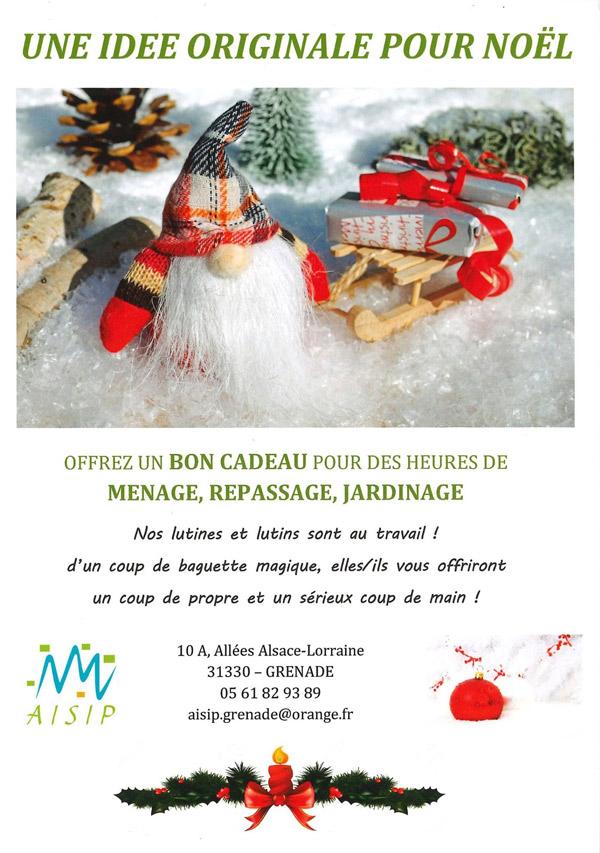 affichette bon cadeau AISIP Noël 2019
